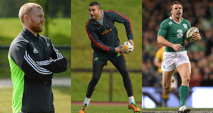 Keith Earls, Simon Zebo and Tommy Bowe