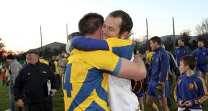 Liam Lawlor, left, with The Nire team-mate Tom Wall  after the semi-final.