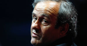 UEFA President Michel Platini attends the UEFA Champions League draw ceremony in Monaco yesterday.(AP Photo/Claude Paris)