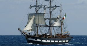 The replica famine ship  the Jeanie Johnston  which gives visitors an insight into famine-time hardships.Picture: AP