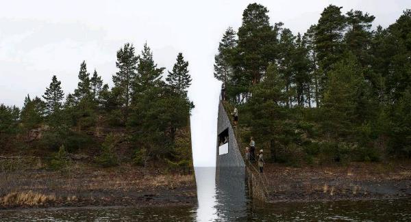 The proposed memorial by Jonas Dahlberg