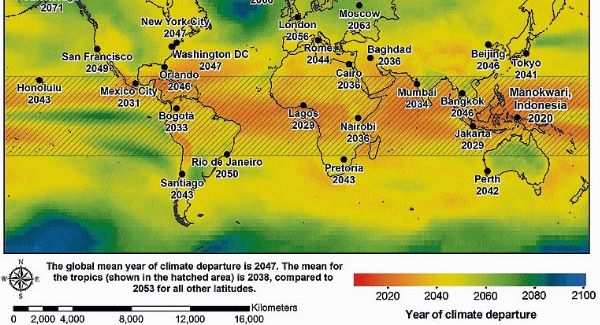 By 2043, 147 cities — more than half of those studied — will have a hotter temperature beyond historical records