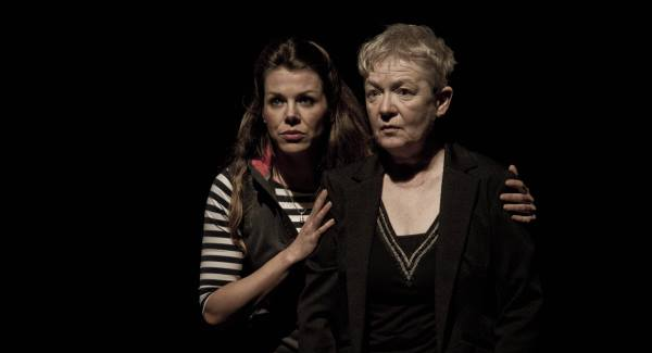 Sinéad O'Riordan and IFTA award-winning actor Ruth McCabe in Breathless at The Everyman Theatre.