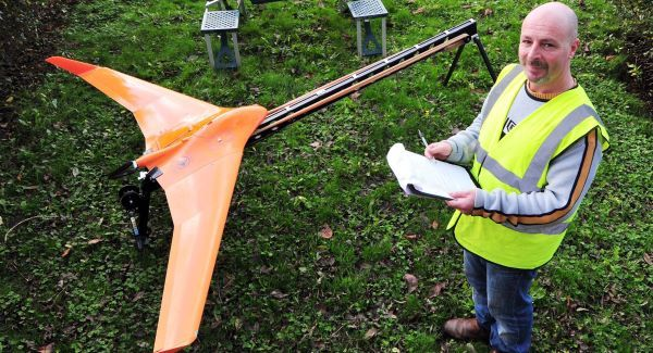 Paudie Barry of Baselinesurveys.ie, Cork, with his remotely piloted aircraft system. Maps are more accurate than those produced by engineers or surveyors, he says. Picture: Denis Minihane