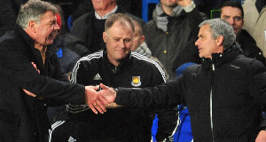 """Sam Allardyce claimed he """"out-tacticed"""" Jose Mourinho after a  draw in January."""