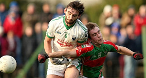 MY BALL: Cahir's Eddie Kendrick and Loughmore's John McGrath locked in battle in yesterday's Tipperary SFC final at Cashel.  Picture: Inpho/Donall Farmer