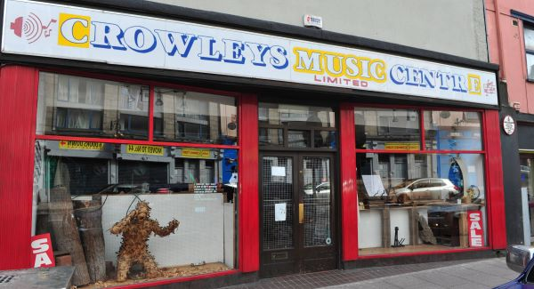 Crowley's Music Centre which has  closed after 90 years of trading. Picture: Dan Linehan