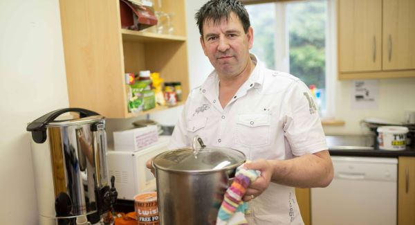 Oliver Williams in his new Twist Soup Kitchen in Ennis, Co Clare. Photograph: Eamon Ward
