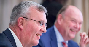 Fáilte Ireland chairman Michael Cawley, and Paul O'Donovan, of chartered accountants Paul O'Donovan and Associates, at a breakfast briefing in the Kingsley Hotel, Cork.