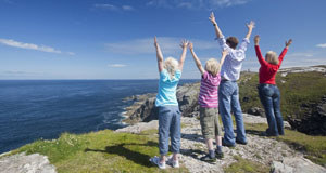 A family day out on the Wild Atlantic Way at Malin Head in Co Donegal.