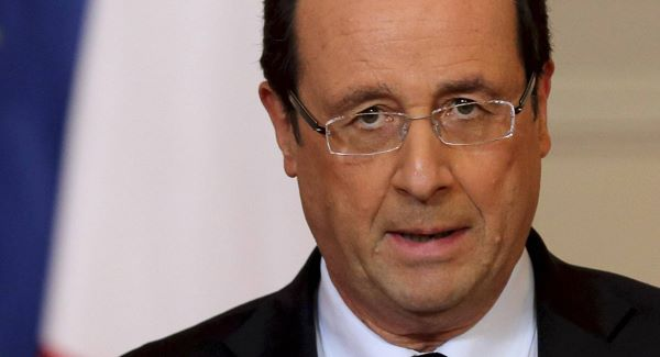 France's President Francois Hollande delivers a speech on the situation in Mali at the Elysee Palace in Paris earlier today.Picture: AP