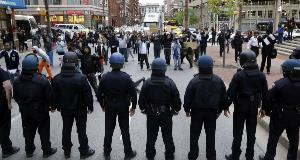 Thousands in Baltimore protest death of man in custody