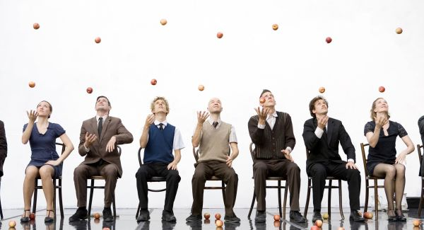 In Dun Laoghaire, Gandini Juggling will entertain with apples and breakable crockery at the Pavilion Theatre.