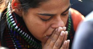 An Indian woman grieves for the Jyoti Singh's violent death.