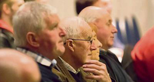 Concentrating on the information at the Department of Agriculture CAP/GLAS meeting in Whites Hotel, Wexford.