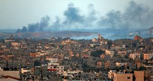 Recent shelling in Gaza