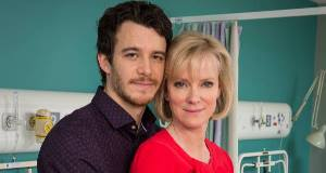 Hermione Norris plays older mum Roanna, a businesswoman embroiled in a bitter battle with her husband after starting a relationship with younger man Simon (Luke Thompson).