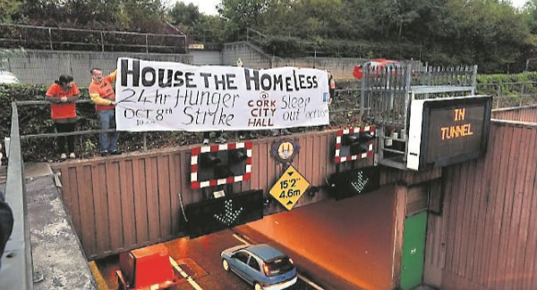 Video Cork Homelessness Activists Defend Protest Irish