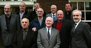 Some of the surviving 'Hooded Men' with Colm O'Gorman (right)