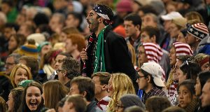 A USA fan at last night's game. Pic: Sportsfile