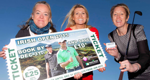 Irish Open championship director Antonia Beggs joined NITB's marketing  manager Fiona Cunningham and chief operating officer Kathryn Thomson in Dublin to urge Irish golf fans to book their tickets early for next year's Irish Open at Royal County Down.