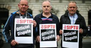 Siptu staff during last week's 48-hour strike.