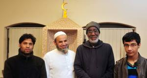 At the Islamic Information Centre, Cork, were (from left) Mohammed Milan, Dr Fergal Radwan, Kamal Eltaib and Osama Shammary