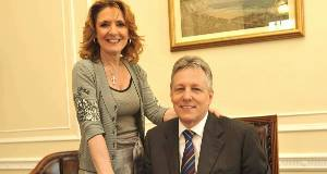 Iris and Peter Robinson before the scandal broke