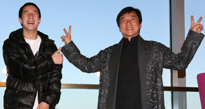 Jaycee and Jackie Chan, photographed together in 2009.