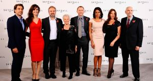 Director Mendes (third from left) pictured with Bond star Craig (centre) and the cast of 'Skyfall'