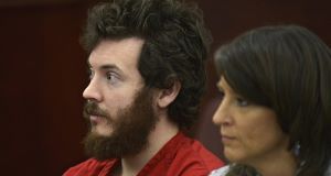 James Holmes, left, and defence attorney Tamara Brady pictured in court last March. Picture: AP