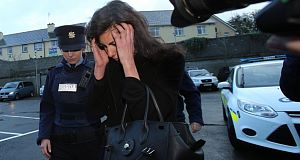 Jennifer Lauren arriving at court yesterday. Picture: PA