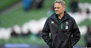 Joe Schmidt pictured yesterday at the Aviva stadium