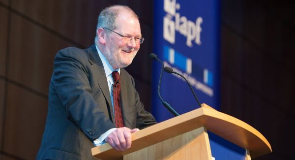 John Corrigan addresses the Irish Association of Pension Funds' annual investment conference in Dublin this week.   Picture: Mark Harrison