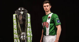 REBEL LEADER: Cork City skipper John Dunleavy at the launch of the SSE Airtricity League at the Aviva Stadium. Picture: David Maher.