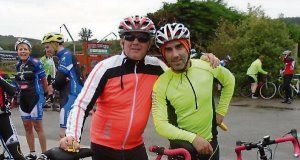 John Shanahan, who went blind at 38, on a tandem cycle with his friend, Gary Neff.