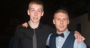 Jonny Byrne (left)