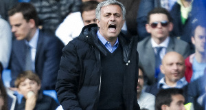 Jose Mourinho: Had an unhappy demeanour on touchline.