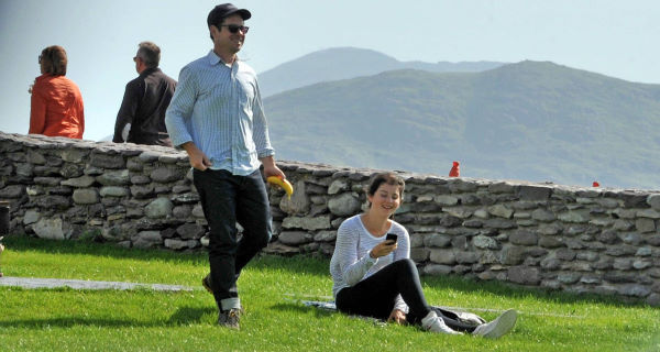 Star Wars Episode VII director, J.J. Abrams out for a stroll in Kerry