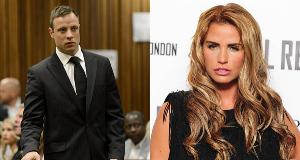 Oscar Pistorius (left) and Katie Price