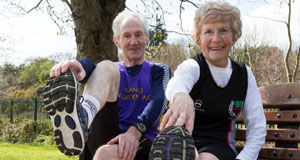 All in their stride: Kay and Joe O'Regan, 79-year-old marathon runners from Enniscorthy, Co Wexford, who are planning to run their final marathon in Cork next year.