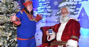 Laura Flaherty and Santa