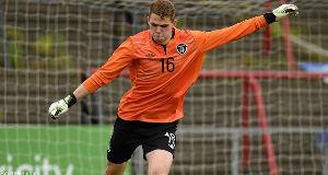 Ireland U19 goalkeeper, Liam Bossin.