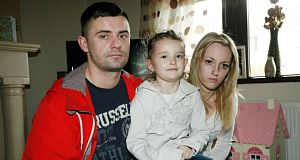 Abbie Cuddihy (centre), who was attacked by the dog in March.