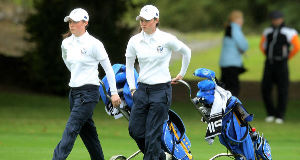 Leona Maguire with twin sister Lisa