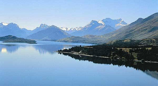 Glenorchy, on Lake Wakatipu in New Zealand, one of the locations for The Lord of the Rings.