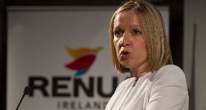 Lucinda Creighton at the launch of her new political party, Renua, at the Science Gallery, Pearse Street, Dublin, yesterday. Picture Colin Keegan, Collins Dublin.