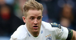 Luke Fitzgerald in action yesterday. Pic: Inpho