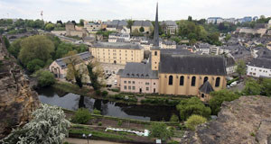 The heart of the old town in Luxembourg