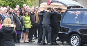 Mourners gather for Mairead Moran's funeral today.